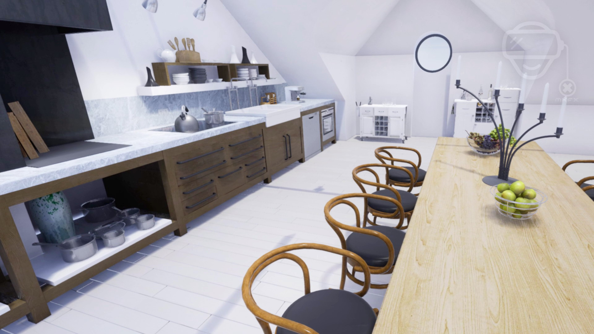 Architektur Wohnung Präsentation MKFX Virtual Reality Experience